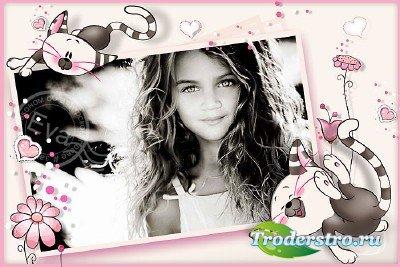 Детская рамочка для фото - Розовое детство