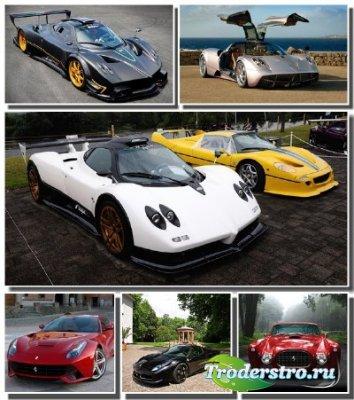 Автомобили марки Pagani и Ferrari в сборнике качественных обоев