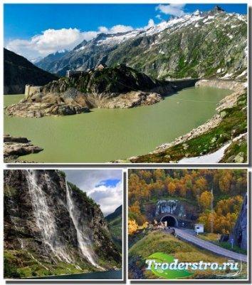 Красивые горные ландшафты на обоях высокого качества