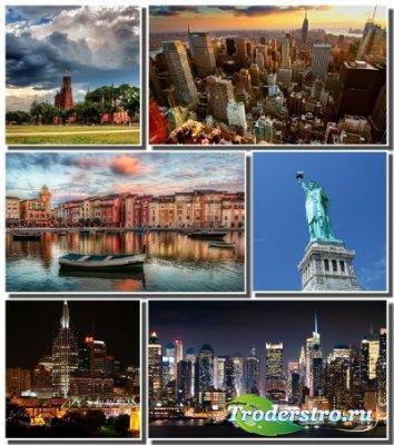 Города США в сборнике обоев для рабочего стола