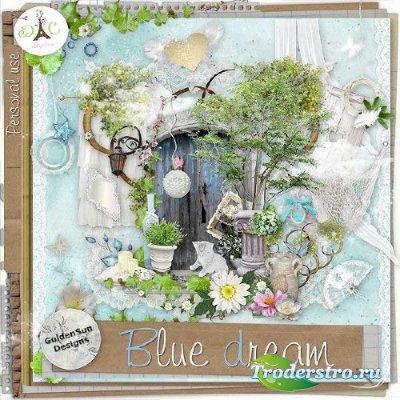 Симпатичный весенний скрап-набор - Голубые грёзы