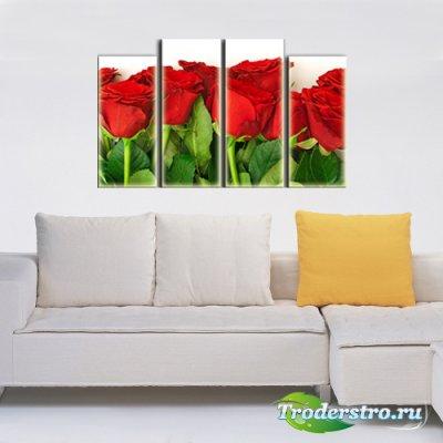 Полиптих в PSD формате - Красные символ любви