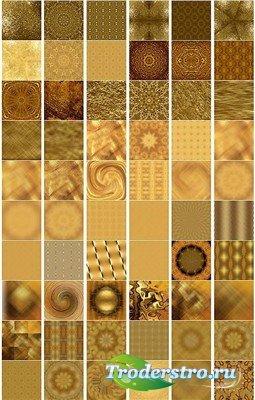 Коллекция бумажных золотых текстур