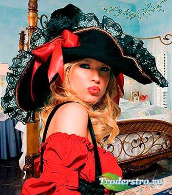 Женский фотошаблон - Шикарная шляпка