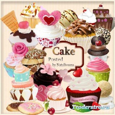 Клипарт в PNG – Вкусные пирожные