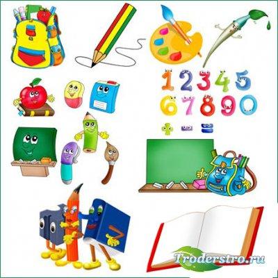 Детский школьный скрап-набор - Школьные принадлежности