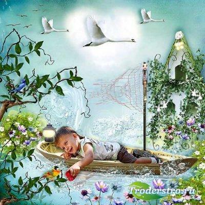 Симпатичный скрап-набор - Я мечтаю о полётах в небе