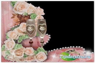 Свадебный футаж-рамка с альфаканалом (подойдёт к DVD-меню)