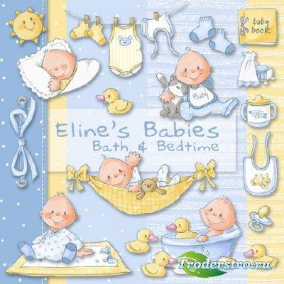 Детский скрап-набор - Малышам-кушать,купаться и спать