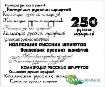Коллекция редких кириллических шрифтов