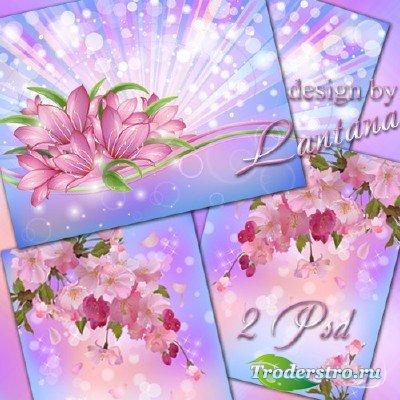 PSD исходники - Цветущий взрыв цветущей красоты