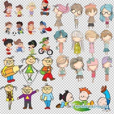 Клипарт - Сборник Дети из мультфильмов на прозрачном фоне