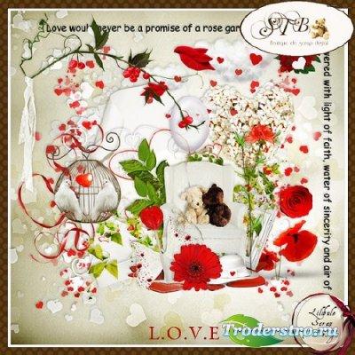 Симпатичный романтический скрап-набор - Любовь