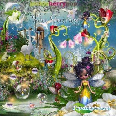Сказочный скрап-набор - Морские феи часть 1