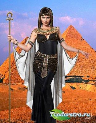 Женский фотошаблон - Египетская царица
