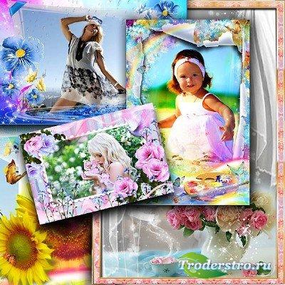 Сборник цветочных фоторамок