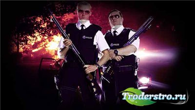 Мужской фотошаблон-два полицейских