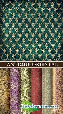 Коллекция старинных восточных текстур с узорами