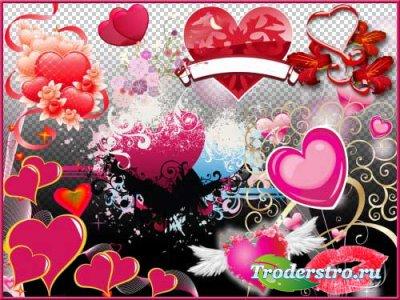 Романтический скрап-набор - Поверьте в любовь