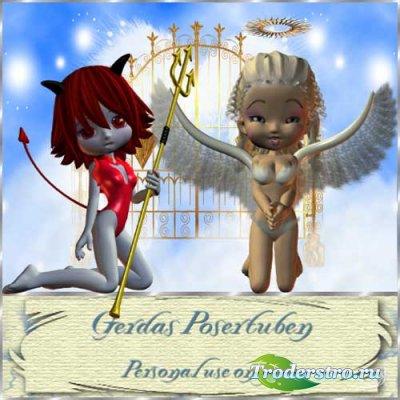 Скрап-набор - Ангелы и Демоны