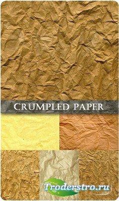 Текстуры измятой упаковочной бумаги высокого качества