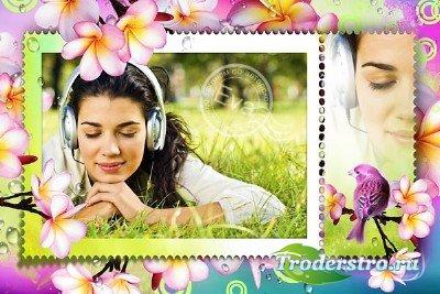 Рамочка для фотошопа - Приход весны