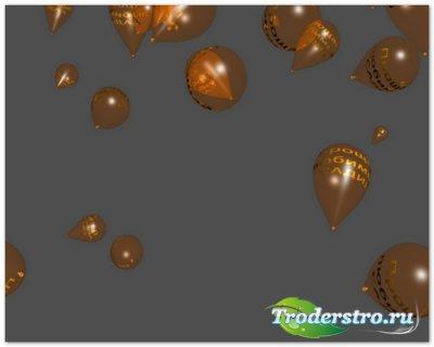 Футаж - падающие шарики с надписью прощай любимый садик