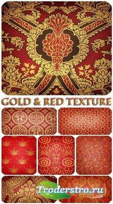Набор старинных узорных текстур в красных тонах