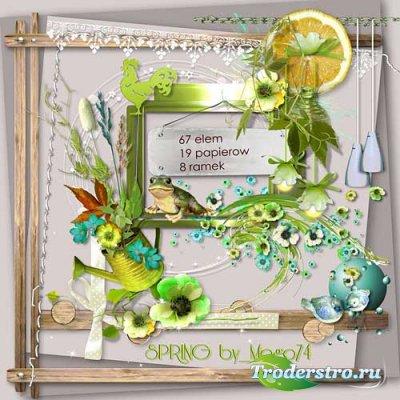Симпатичный цветочный скрап-набор - Весенний