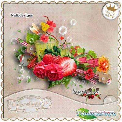 Цветочный скрап-набор - Свежесть