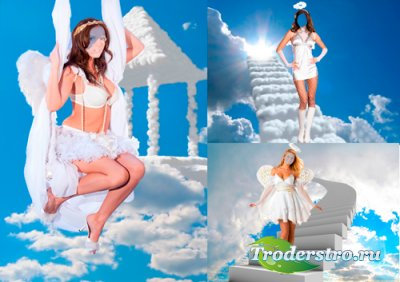 Шаблоны для фотошопа - Девушки ангелы