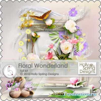 Цветочный скрап-набор - Цветочная страна чудес