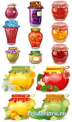 Ягоды фрукты (Вектор)