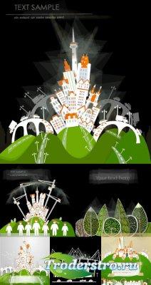 Город векторный клипарт