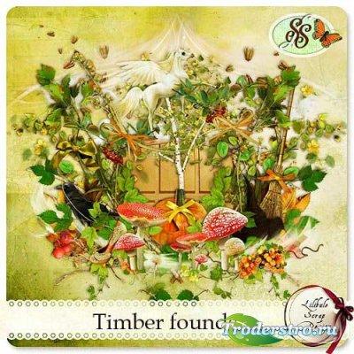 Лесной скрап-набор - Волшебный лес