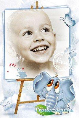 Детская рамка для фотошопа - Детский портрет