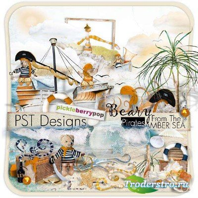 Набор для скрапбукинга - Пираты с янтарного моря