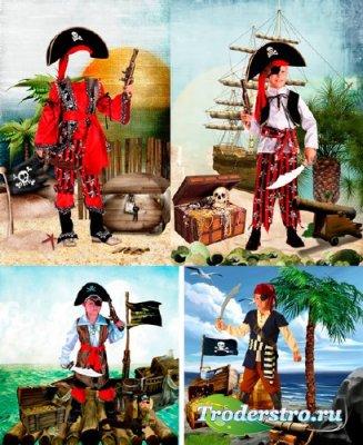 Шаблоны для фотошопа  - Сказочные пираты