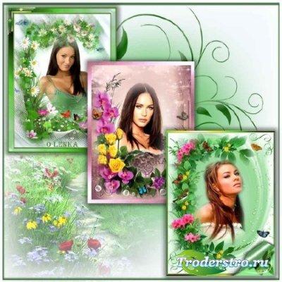 Набор рамок для фотошопа - В мире цветов