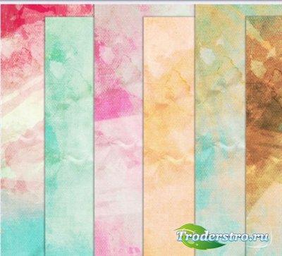 Цветные пятна на старой бумаге (набор текстур)
