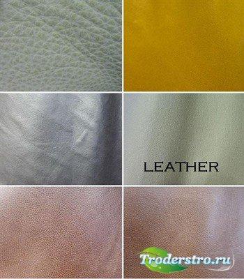 Коллекция кожаных текстур светлых оттенков