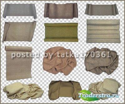 Клипарт для фотошопа - Ткань серый холст и мешковина