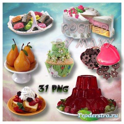 Конфеты и разные десерты PNG клипарт