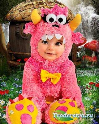 Детский фотошаблон - Сказочный костюм Пинки Винки