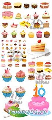 Sweet cakes and pies / Сладкие кексы и тортики
