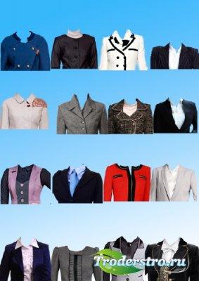 Растровый клипарт  -  Женские костюмы для фото на документы