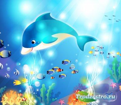 Морские бродячие рыбы (Вектор)