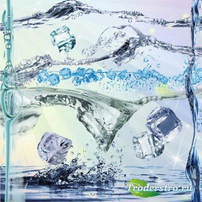 Лед и вода растровый клипарт