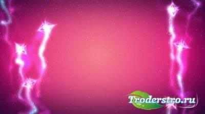Фоновый футаж с летящими кристалами