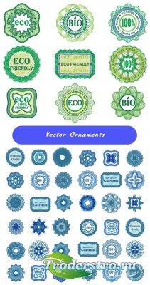 Зеленый гильошный узор (Вектор)